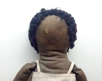 Antique African American Folk Art Rag Doll