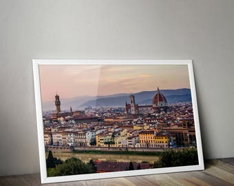 Florence Italy, Florence Print, Florence, Duomo, Palazzo Vecchio, Italy Photo, Italy Photography, Travel Photography, Architecture, Art