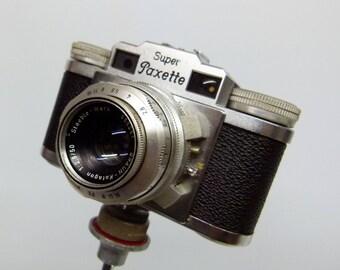 Vintage 1956 Super Braun Paxette 35mm Rangefinder Camera - German Made
