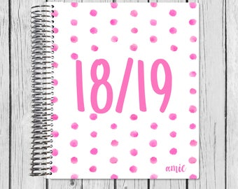 18-19 Teacher Planner | | July 2018 - June 2019 Lesson Planner | Plan Book | Lessons | Record Book | Gift Spiral Calendar Agenda