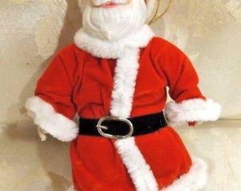 Vintage Kurt Adler Santa Christmas Ornament NIB Santas World Porcelain Figurine