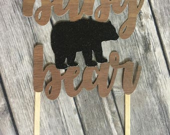 Baby Bear Cake Topper - Baby Bear Baby Shower - Woodland Baby Shower