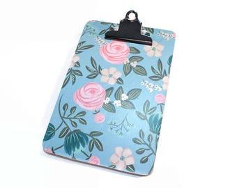 Mini Clipboard,  Small Clipboard, Dorm Decor, Office Organization, List Holder, Office Decor, Memo Holder, Modern Floral, Teacher Gift