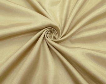 "Beige Shantung Fabric, Silk Dupioni Fabric, Dress Material, Craft Fabric, 42"" Inch Wide Fabric By The Yard ZSH3I"