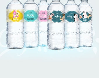 Cutie printable water bottle label Baby Shower - Girl - Boy - Label - Instant Download - Ready to print