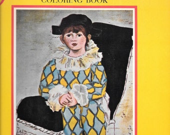 The Picasso Coloring Book 1966 Paperback Edition