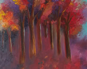 Autumn / Original Painting. Oil on Canvas / 100H × 70W × 2 cm