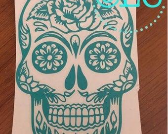 Sugar Skull Decal/car/phonecase/laptop/computer/notebook/cooler/phonecase