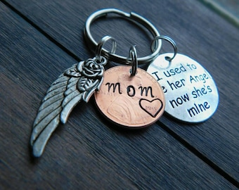 Custom Penny From Heaven Memorial Keychain, Memorial Gift, Heaven Penny, Grief gift, Daughter, Mom, Grandma, Sister,Used to be her Angel