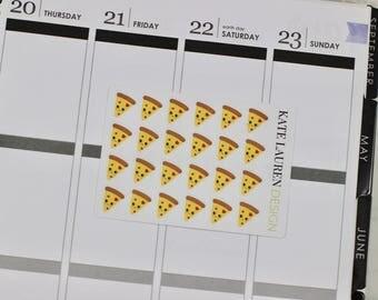 Kawaii Planner Stickers, Pizza Stickers, Kawaii Food Stickers, Pizza Planner Stickers, Kawaii Stickers, Kawaii Pizza