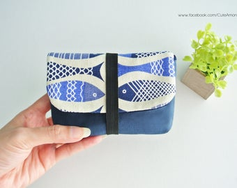 Fish Parade Charger & Cable Storage, Cellphone Charger Holder, USB Cable Case, Traveller Gadget Organizer, Cable Holder - Made to Order