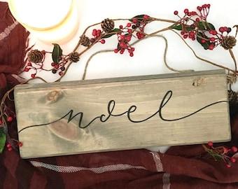 Noel - Wood Sign