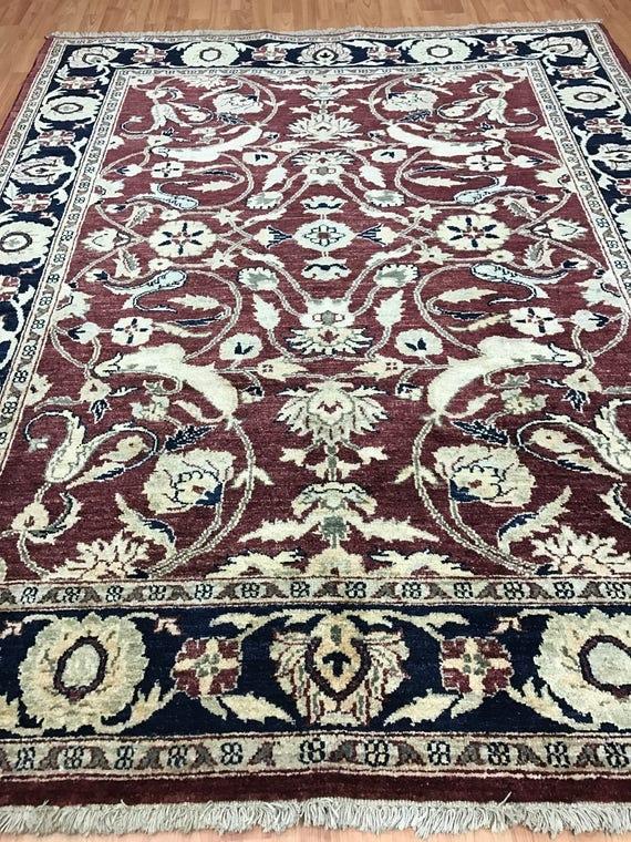 "5' x 6'4"" Pakistani Peshawar Oriental Rug - Hand Made - 100% Wool - Veg Dye"