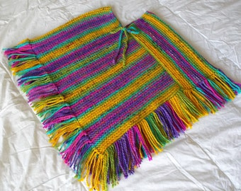 Girl's Hand Knitted Poncho