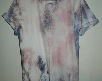 Tie Dye T-Shirt  acid wash T-shirt hipster festival grunge Retro 90s punk dip dye unisex rave indie trash Galaxy men women top