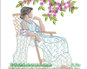 SOUTHERN BELLE machine embroidery download 3 diff sizes ( 3.6 x3.8    5x5   6x6)