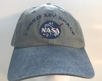 NASA I Need My Space Minimal Front Logo Cap // 2 tone NASA Hat