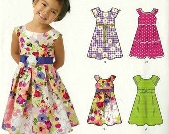 New Look 6205 Sizes 3-8 Childrens Dresses