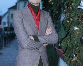 Veste homme à carreaux - Vintage années 80 à 90 - ARMAND THIERY