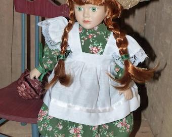 """Anne of Green Gables Porcelain Doll 13"""" - 1335"""