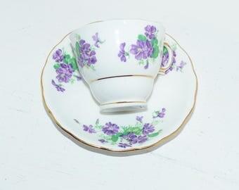 Colclough Tea cup Saucer England Bone China  - 794
