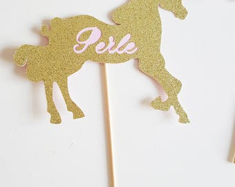 2 unicorns personalized with name-glitter gold candy bar decorations