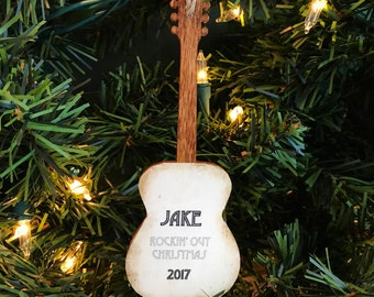 Personalized Acoustic Guitar Ornament, Acoustic Guitar Gifts for Men, Guitar Player Gift, Personalized Musician Gifts for Musicians