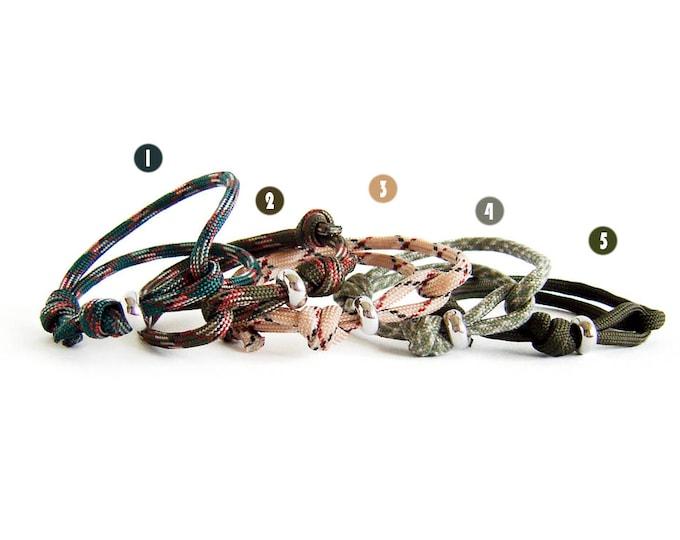 Woodland Jewelry, Woodland Bracelet, Rock Climbing Jewelry, Paracord Bracelet Men
