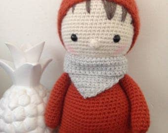"Doll ""P"" little man ""large Fox plush, plush crochet pattern"