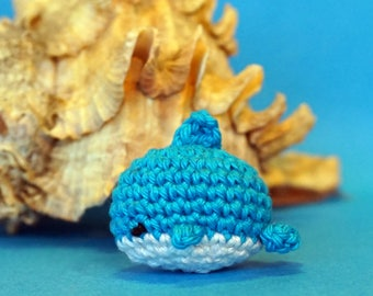 dolphin plushie keychain - crochet amigurumi
