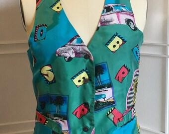 Funky 80s Fashion Vest