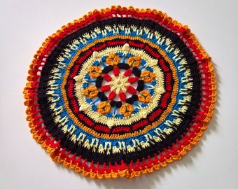 Colorful round doily