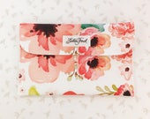Diaper Clutch - Floral Dreams, Floral Diaper Bag, Flower Clutch, Diaper Clutch with Pockets, Diaper Holder, Diaper Wallet, Diaper Pouch