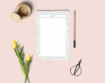 NOTES PAGE . Printable notepad, planner inserts, to do list printable, notes inserts, instant download notepad. A4 A5 letter size