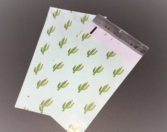100 Designer CACTUS 6x9 Poly Mailers Envelopes Shipping Bags Green