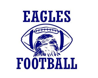 Eagles Football high school college SVG File Cutting, DXF, EPS design, cutting files for Silhouette Studio and Cricut Design space