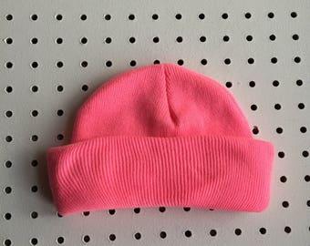 Hot Pink Mini Fisherman Beanie