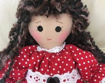traditional rag doll, handmade rag doll, unique rag doll, classic rag doll, unique rag doll