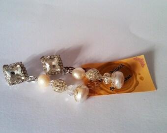 Wool earrings