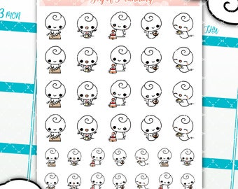 Cooking planner stickers, cooking sticker, food sticker, kitchen planner stickers, dinner stickers, food planner, meal planning GOP002
