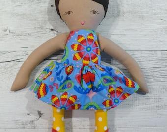 "Penny - Handmade rag doll, 38cm (15""), fabric doll, cloth doll, gifts for girls."