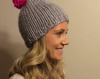 Winter hat with pom