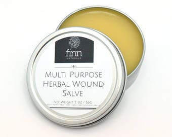 All Natural Organic Multi Purpose Herbal Wound Salve Cream for Stings, Bites, Scratches, Rashes, Dry, Itchy Skin, Eczema, Psoriasis, Burns