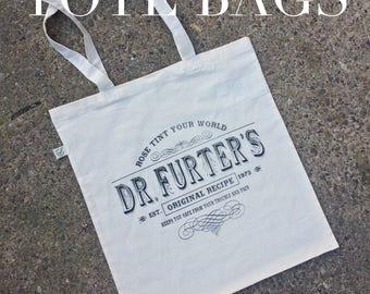 Rocky Horror Show inspired tote bag, cult movie, horror movie, graphic tote, horror apparel, nameless city apparel, book bag, shopping bag