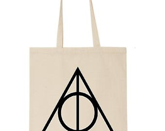 Deathly hallows tote bag - Harry Potter - Fantasy - bookish - market bag - book lover - gift for book lover