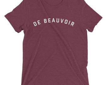 SIMONE DE BEAUVOIR Shirt, Beauvoir, Simone de Beauvoir, De Beauvoir Shirt, Feminist Shirt, Feminist Gift, Feminist Tshirt, Literary Gift