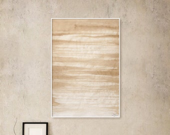 Abstract, Sepia and White, Ink, Painting, Extra large, Pinting, Ink painting, Minimalistic, Original, Minimalism, Modern Art, x large