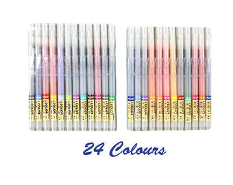 Colour Pens, 12 Colours, 24 Colours, 36 Colours, Colourful, Painting, Stationery