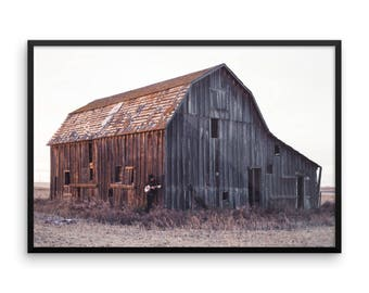 Rustic Barn Photography Print   Wall Art   Farmhouse   Cheap Art Prints   the Midwest   Large Wall Art   Poster   Banjo Player   Country