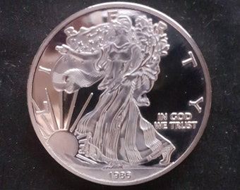 1986 proof USA  silver Dollar perfect mint